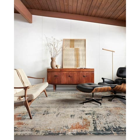 Alexander Home Alexis Mid-Century Modern Abstract Area Rug