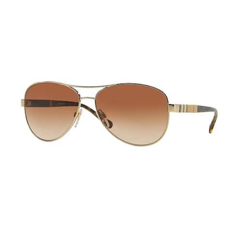 Burberry Women BE3080 114513 Gold Metal Cateye Sunglasses
