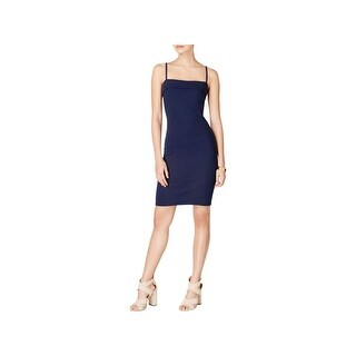 Minkpink Womens Bodycon Dress Ribbed Adjustable Straps - m