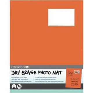 "Orange - Dry-Erase 8""X10"" Photo Mat Holds 2""X3"" Photo"