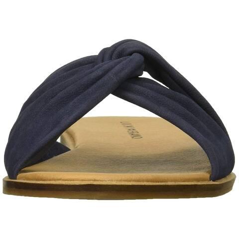 3d0ebafcd067 Lucky Brand Womens Dezzee Leather Open Toe Casual Slide Sandals
