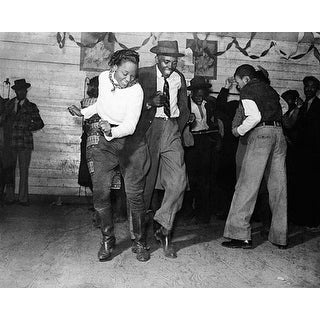 ''Jitterbug, Negro Juke Joint, Clarksdale, Mississippi, 1939'' by McMahan Photo Archive African American Art Print (8 x 10 in.)