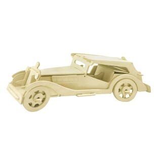 Children Gift Cubic Rolling Automobile Model Picture DIY Wooden Puzzle Toy
