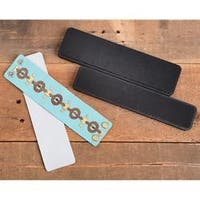 Wide Leather Bracelet Set - Sizzix Movers & Shapers Magnetic Dies By Jill Mackay