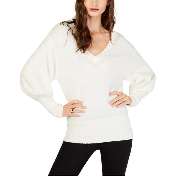 Michael Kors Womens Blouson Sleeve Pullover Sweater, White, Large. Opens flyout.