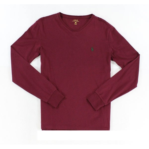 1e25ec33 Shop Polo Ralph Lauren NEW Red Wine Mens Size XS V-Neck Solid Tee T-Shirt -  Free Shipping On Orders Over $45 - Overstock - 18362758
