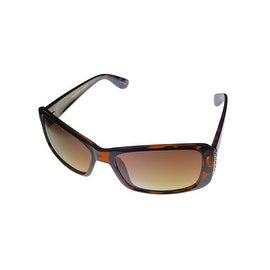 Ellen Tracy Womens Sunglass 543 1 Tortoise Rectangle Plastic, Gradient Lens - Medium