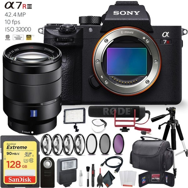 Sony Alpha a7R III Mirrorless Digital Camera Sony 24-70mm Lens Pro Combo