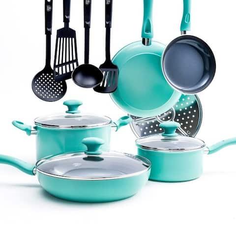 GreenLife Diamond Ceramic Non-Stick 13-Piece Cookware Set