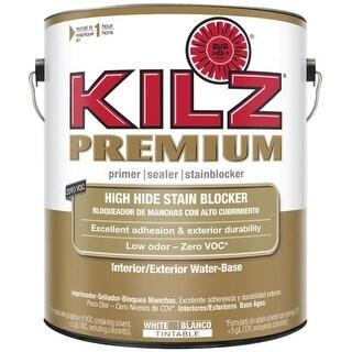 KILZ 13941 Premium Interior/Exterior Water Based White Primer - 1 Gallon