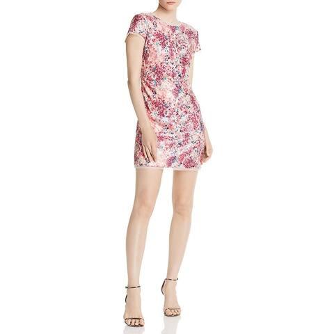Rachel Zoe Womens Lili Sheath Dress Sequined Mini - Multi