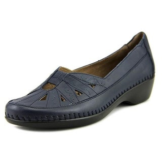 Easy Spirit Dixiee Women Round Toe Leather Blue Loafer