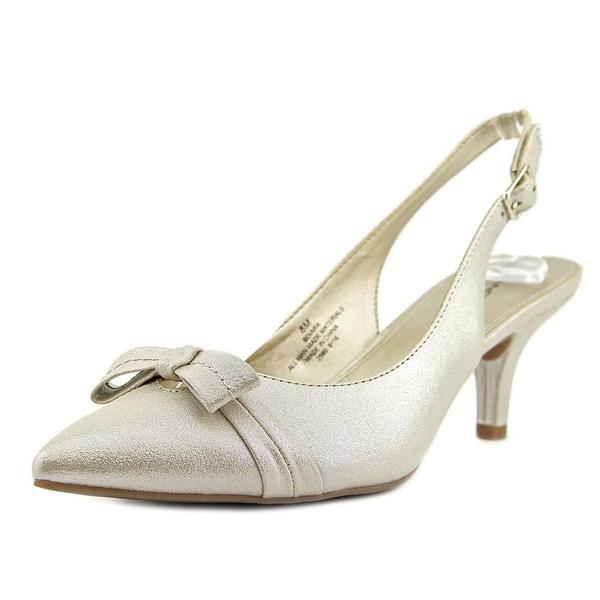 Bandolino Iara Women Pointed Toe Synthetic Gold Slingback Heel