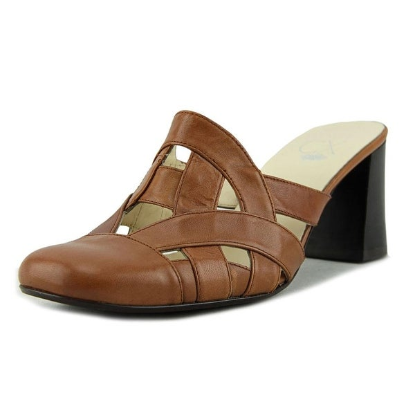CX UMV3-017 Square Toe Leather Mules