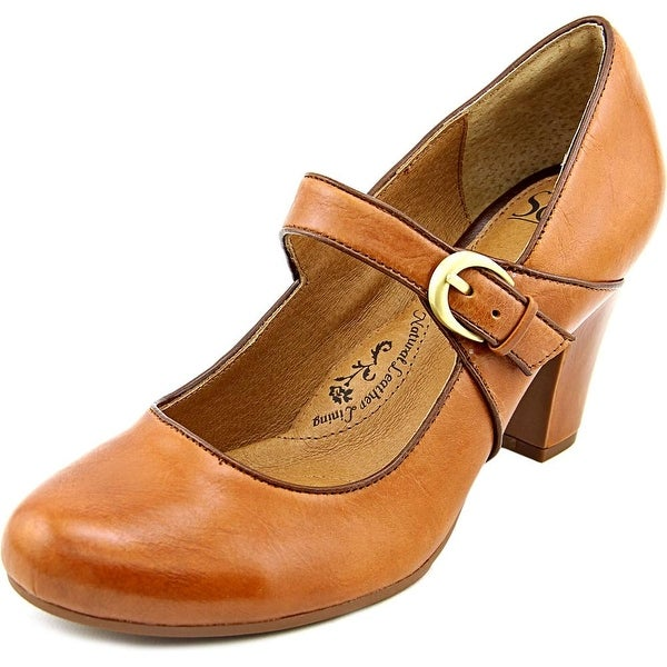 Sofft Miranda Women Round Toe Leather Brown Mary Janes