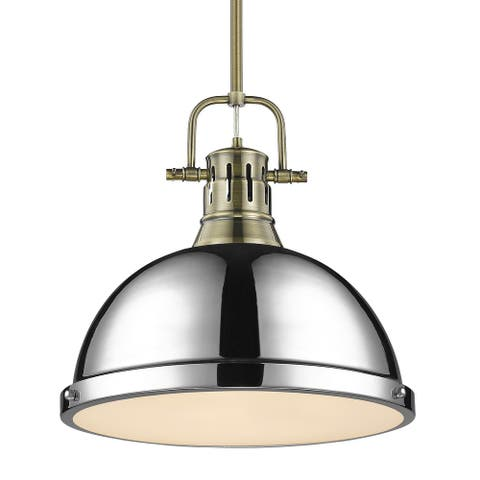 Duncan 1-light Hanging Dome Pendant with Rod