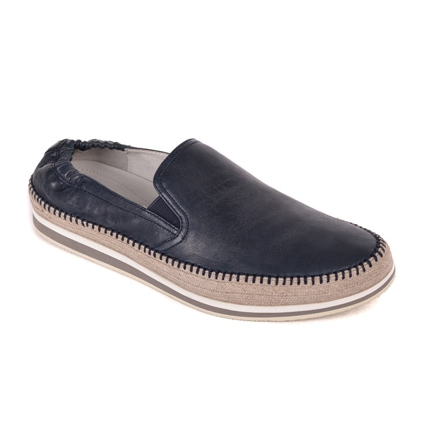 06cabcd559 ... promo code for prada menx27s navy leather slip on braided sidewall  loafers 19cb0 05718 ...