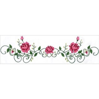Tobin 20 x 30 in. Stamped for Embroidery Pillowcase Pair - Rose Vine