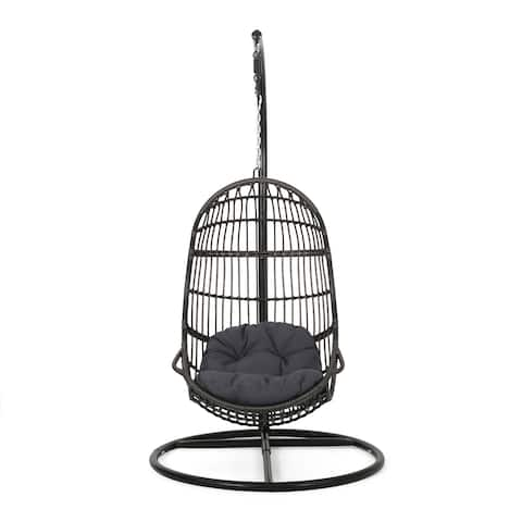 Lombard Wicker Hanging Chair by Christopher Knight Home