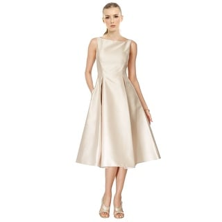 Adrianna Papell Boatneck A-Line Cocktail Party Dress