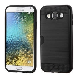 Insten Dual Layer Hybrid Rubberized Hard PC/ Silicone ID/ Card Slot Case Cover For Samsung Galaxy E5