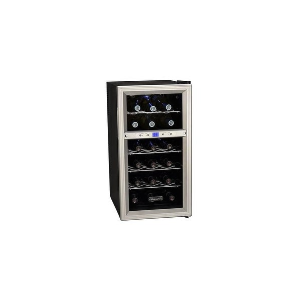 "Koldfront TWR181E 14"" Wide 18 Bottle Wine Cooler with Dual Thermoelectric Cooling Zones - STAINLESS STEEL - N/A"