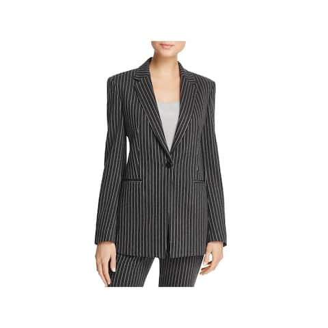 Theory Womens One-Button Blazer Pinstripe Suit Separate