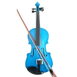Student Acoustic Violin Full 3/4 Maple Spruce with Case Bow Rosin Blue Color