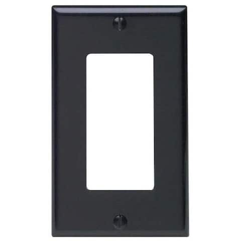 1 Gang Decora Plate Black