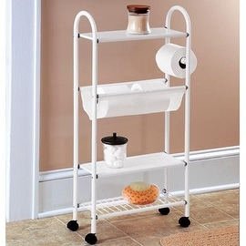 Rolling Metal Small Bathroom Shelves