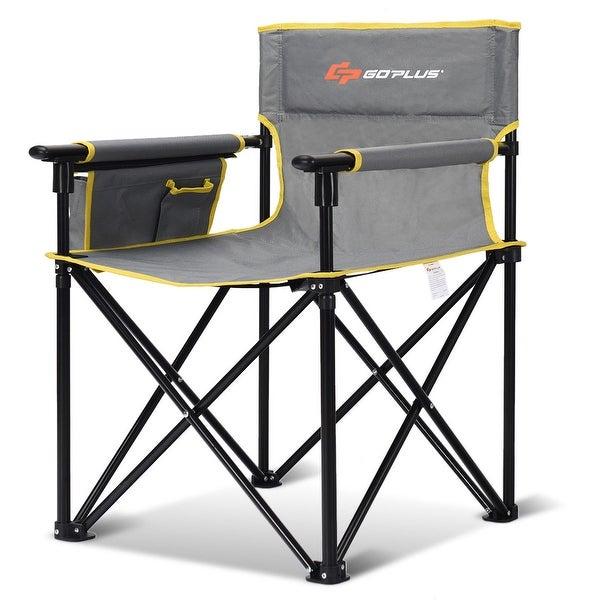 f3efeb7564 Shop Goplus Outdoor Beach Chair Portable Folding Fishing Camping ...