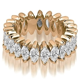 5.75 cttw. 14K Rose Gold Marquise Diamond Eternity Ring