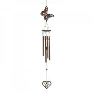 Butterfly And Heart Windchime