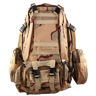 Outdoor Travel Trekking Camping Hiking Backpack Bag Three Sand Camouflage Color