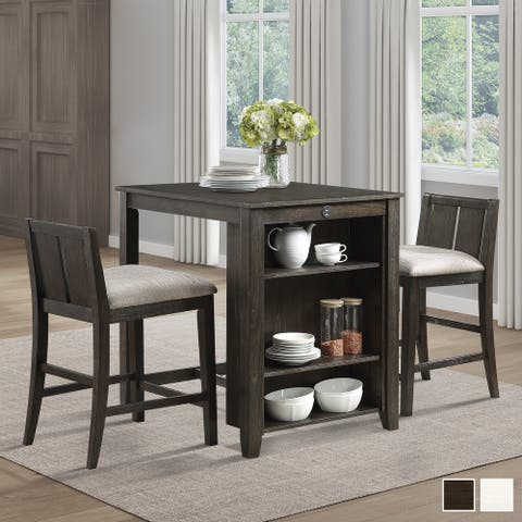 Hobson 3-Piece Counter Height Dining Set