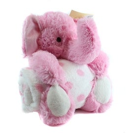 Pink Elephant and Blanket Toy by Pem America