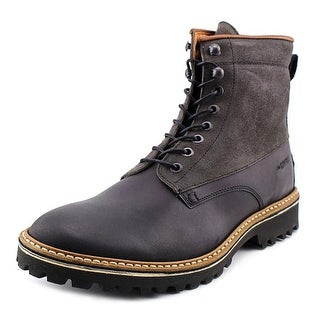 Wolverine Tomas Men Round Toe Leather Black Boot