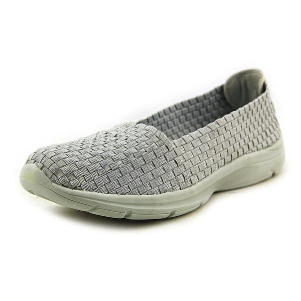 Easy Spirit e360 Quillar Women Round Toe Canvas Silver Walking Shoe