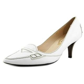 Tod's Etoile Decollete Moc Women Pointed Toe Leather White Mules