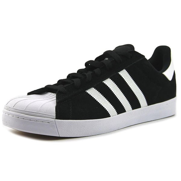 b8d02af4 Shop Adidas Superstar Vulc Adv Men Round Toe Suede Black Skate Shoe ...