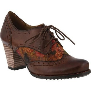 L'Artiste by Spring Step Women's Marivel Derby Oxford Brown Leather