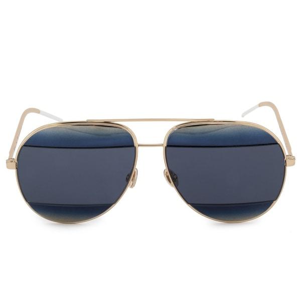33fcaf14e1e Shop Christian Dior Split 1 Aviator Sunglasses 2JYKU 59 - Free ...