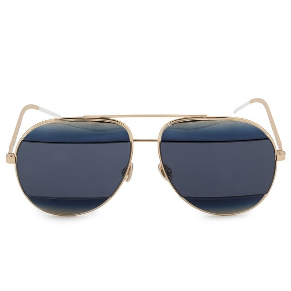 b81592dd339d Shop Christian Dior Split 1 Aviator Sunglasses 2JYKU 59 - Free ...