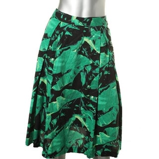 Vince Camuto Womens Pleated Printed A-Line Skirt - 12