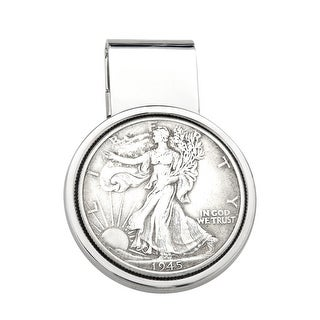Dolan Bullock Walking Liberty Coin Money Clip in Sterling Silver - White