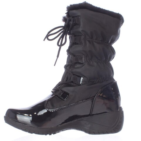 Khombu Womens Audrey Round Toe Mid-Calf Cold Weather Boots