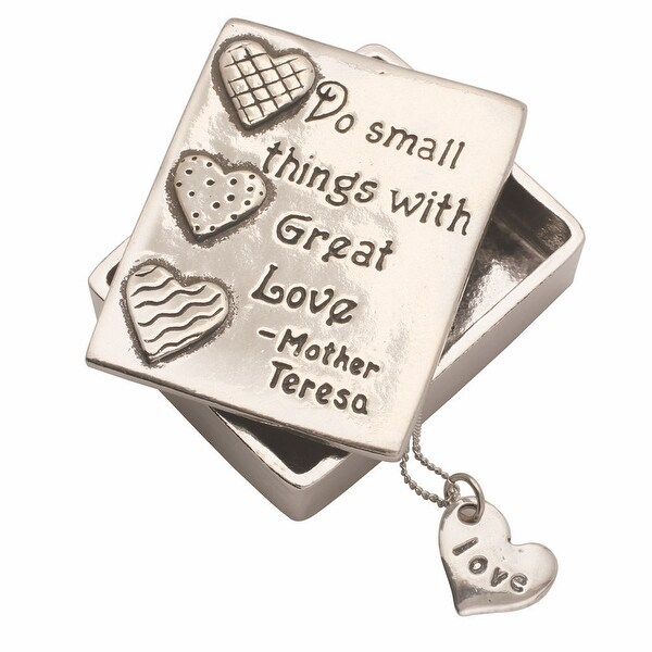 Do Small Things With Great Love Trinket Box And Necklace