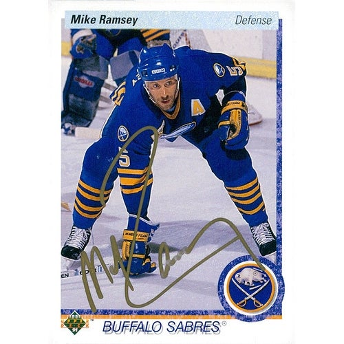 pretty nice 61495 c1ed6 Signed Ramsey Mike Buffalo Sabres 1990 Upper Deck Hockey Card autographed