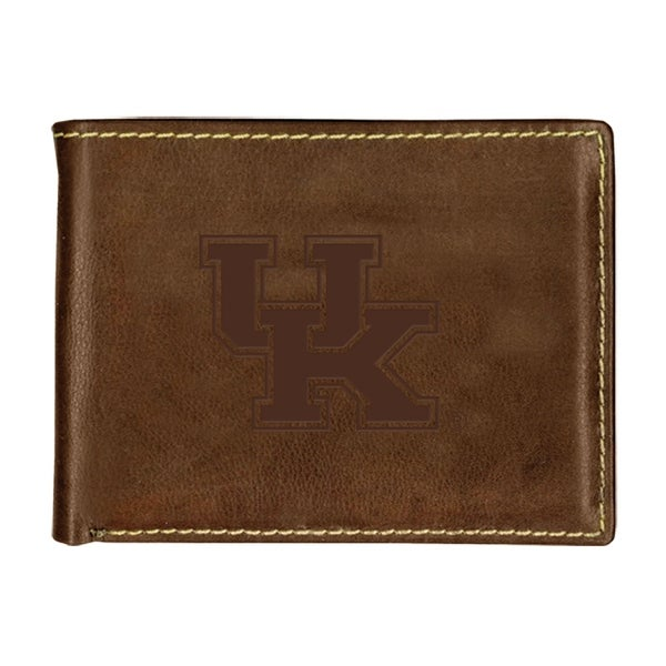 University of Kentucky Contrast Stitch Bifold Leather Wallet