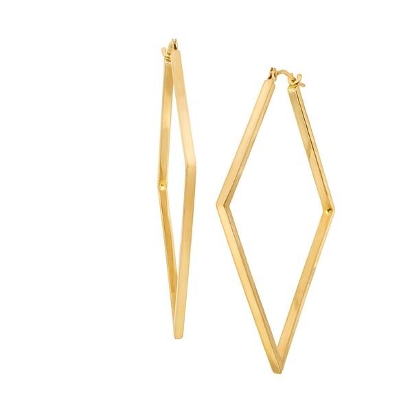 52f39ac3e3036 Shop Eternity Gold Open Diamond-Shape Hoop Earrings in 14K Gold ...